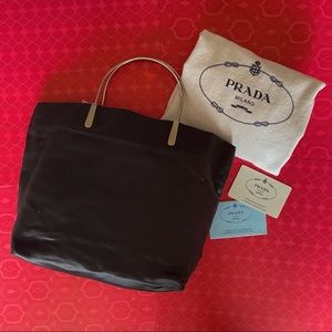 Prada Satin Black Tote bag